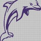 Dolphin silhouette cross stitch pattern in pdf