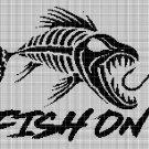 Fish on 2 silhouette cross stitch pattern in pdf