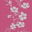 Flowers silhouette cross stitch pattern in pdf
