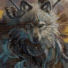 Art wolf head DMC cross stitch pattern in pdf DMC