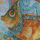 Colorful fish DMC cross stitch pattern in pdf DMC