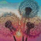 Dandelions DMC cross stitch pattern in pdf DMC
