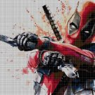 Deadpool 2 DMC cross stitch pattern in pdf DMC