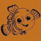 Nemo silhouette cross stitch pattern in pdf