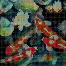 Koi fishes DMC cross stitch pattern in pdf DMC
