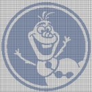 Olaf silhouette cross stitch pattern in pdf