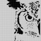 Owl head 2 silhouette cross stitch pattern in pdf