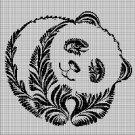 Panda 3 silhouette cross stitch pattern in pdf