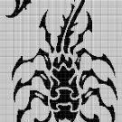 Scorpion 2 silhouette cross stitch pattern in pdf