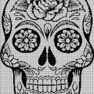 Sugar skull 2 silhouette cross stitch pattern in pdf