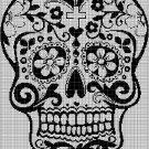 Sugar skull 4 silhouette cross stitch pattern in pdf