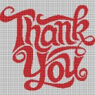 Thank you 2 silhouette cross stitch pattern in pdf