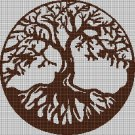 Tree silhouette cross stitch pattern in pdf