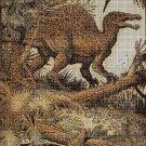 Dinosaur 3 DMC cross stitch pattern in pdf DMC