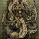Dragon 2 DMC cross stitch pattern in pdf DMC