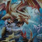 Dragons DMC cross stitch pattern in pdf DMC