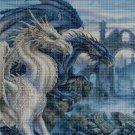 Dragons 2 DMC cross stitch pattern in pdf DMC