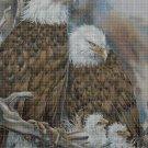 Eagle family DMC cross stitch pattern in pdf DMC
