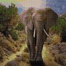Elephant 2 DMC cross stitch pattern in pdf DMC