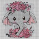 Elephant baby DMC cross stitch pattern in pdf DMC