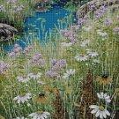 Field with flowers DMC cross stitch pattern in pdf DMC