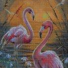 Flamingos DMC cross stitch pattern in pdf DMC