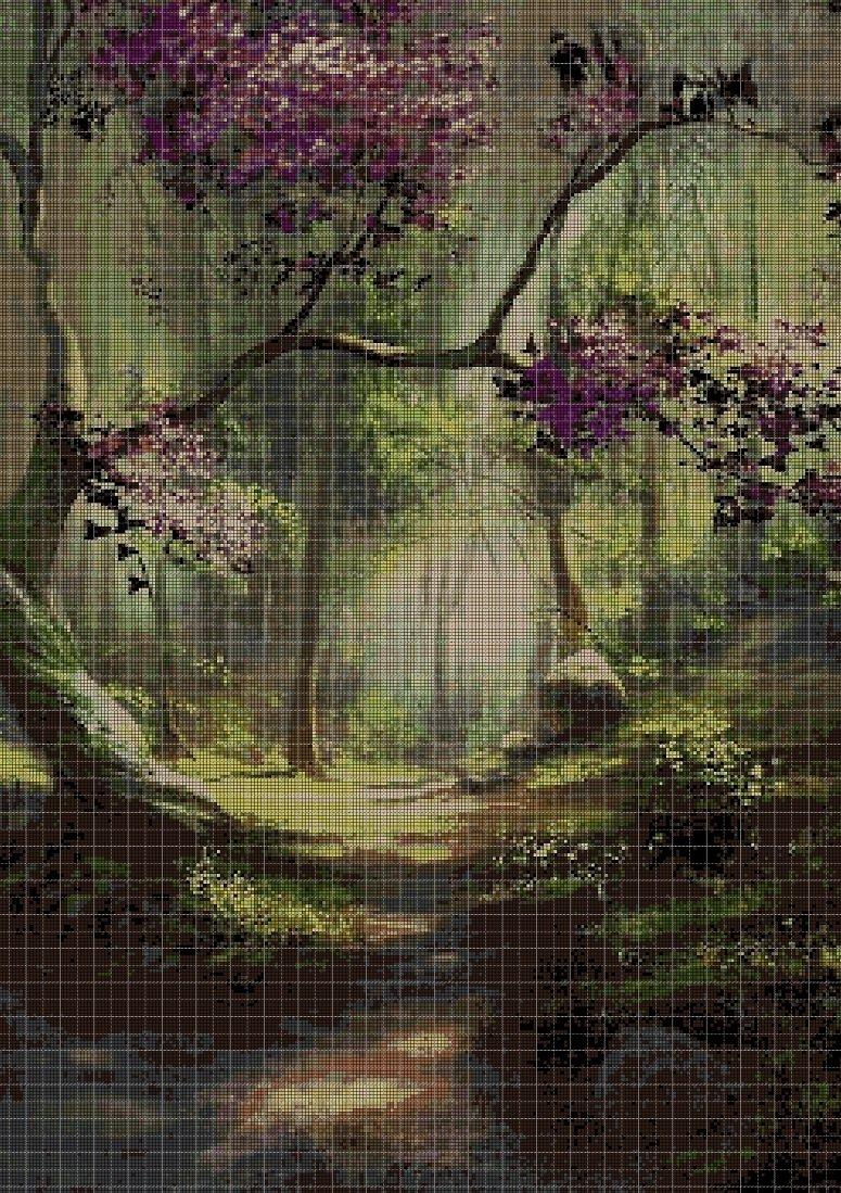 Forest DMC cross stitch pattern in pdf DMC