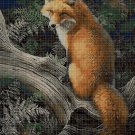 Fox DMC cross stitch pattern in pdf DMC