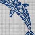 Tribal Dolphin 3 silhouette cross stitch pattern in pdf