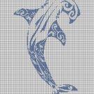 Tribal Hammerhead 2 silhouette cross stitch pattern in pdf