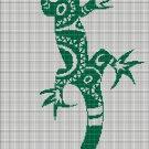 Tribal lizard 2 silhouette cross stitch pattern in pdf