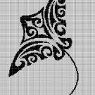 Tribal Manta 3 silhouette cross stitch pattern in pdf