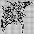 Tribal Manta 4 silhouette cross stitch pattern in pdf