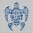 Tribal turtle 2 silhouette cross stitch pattern in pdf