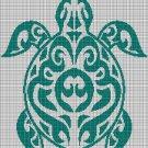 Tribal turtle 3 silhouette cross stitch pattern in pdf