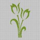 Tulips silhouette cross stitch pattern in pdf