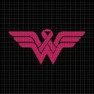Wonder woman symbol silhouette cross stitch pattern in pdf