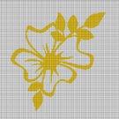 Yellow flower silhouette cross stitch pattern in pdf