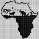 Afrika silhouette cross stitch pattern in pdf