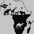 Afrika 2 silhouette cross stitch pattern in pdf
