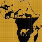 Afrika 3 silhouette cross stitch pattern in pdf