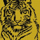 Tiger 2 silhouette cross stitch pattern in pdf