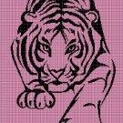 Tiger 4 silhouette cross stitch pattern in pdf