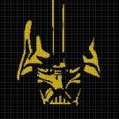 Darth Vader silhouette cross stitch pattern in pdf