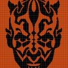 Darth Maul silhouette cross stitch pattern in pdf
