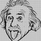 Albert Einstein silhouette cross stitch pattern in pdf