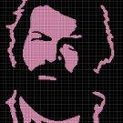Bud Spencer silhouette cross stitch pattern in pdf