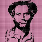 Terence Hill silhouette cross stitch pattern in pdf