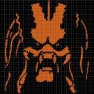 Predator silhouette cross stitch pattern in pdf