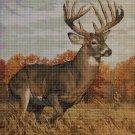 Deer 2 DMC cross stitch pattern in pdf DMC